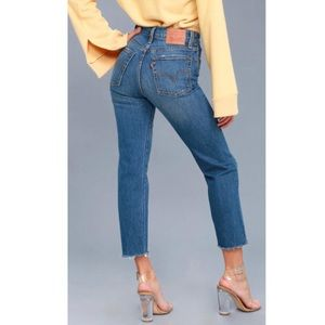 Levi's wide fit high rise straight leg jeans